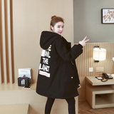 2016 pregnant women winter dress Korean version of down cotton clothing women medium long loose large size fashion cotton wool plus thick cotton coat