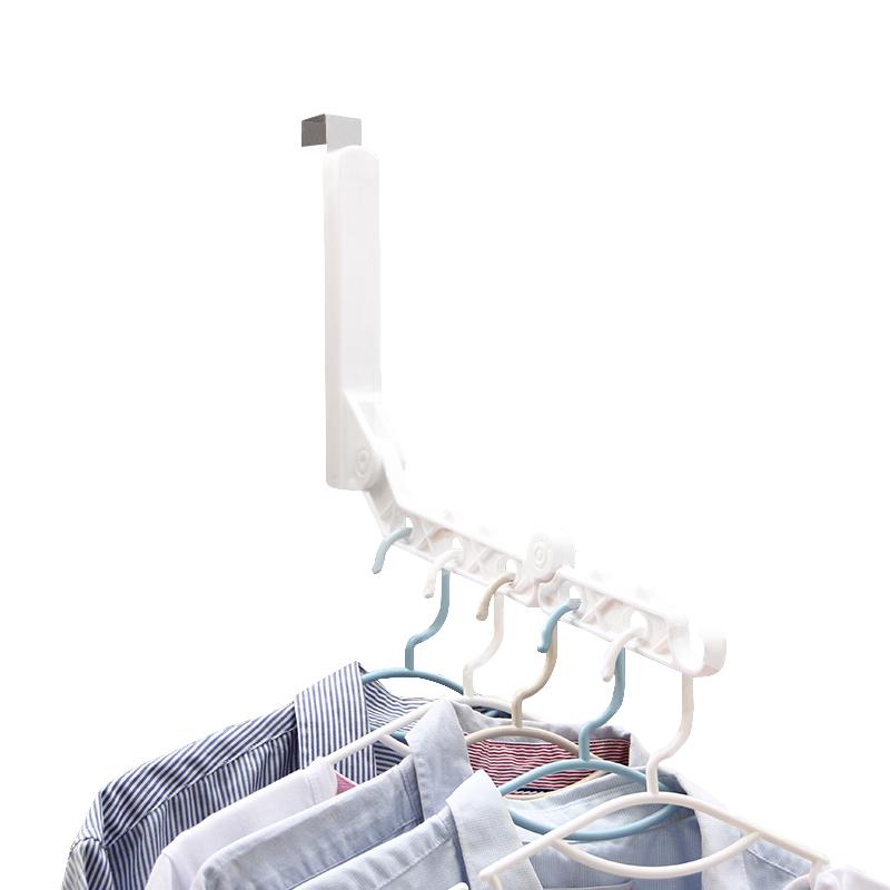 折叠衣架便携旅游多功能衣架简易门后免打孔伸缩家用旅行晒衣神器