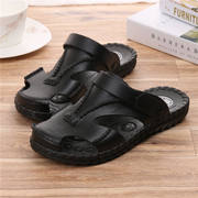 Pull back Men's new soft bottom Baotou sandals men's genuine non-slip outdoor plastic sandals and slippers casual beach shoes