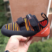 2019 climbx kinder icon beginner color children's sticky buckle climbing shoes flying fabric breathable