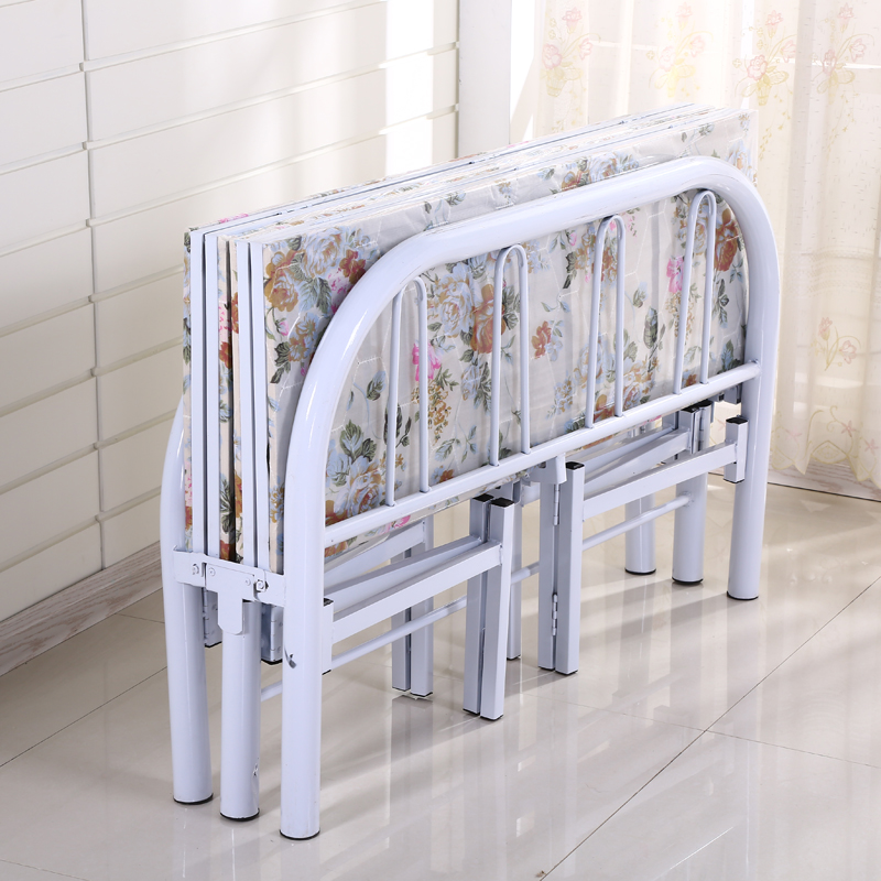折叠床单人床木板床办公室午休床加固四折床1.2米1.5米简易双人床