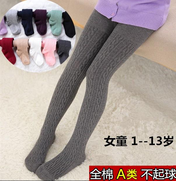 女童加厚底裤袜