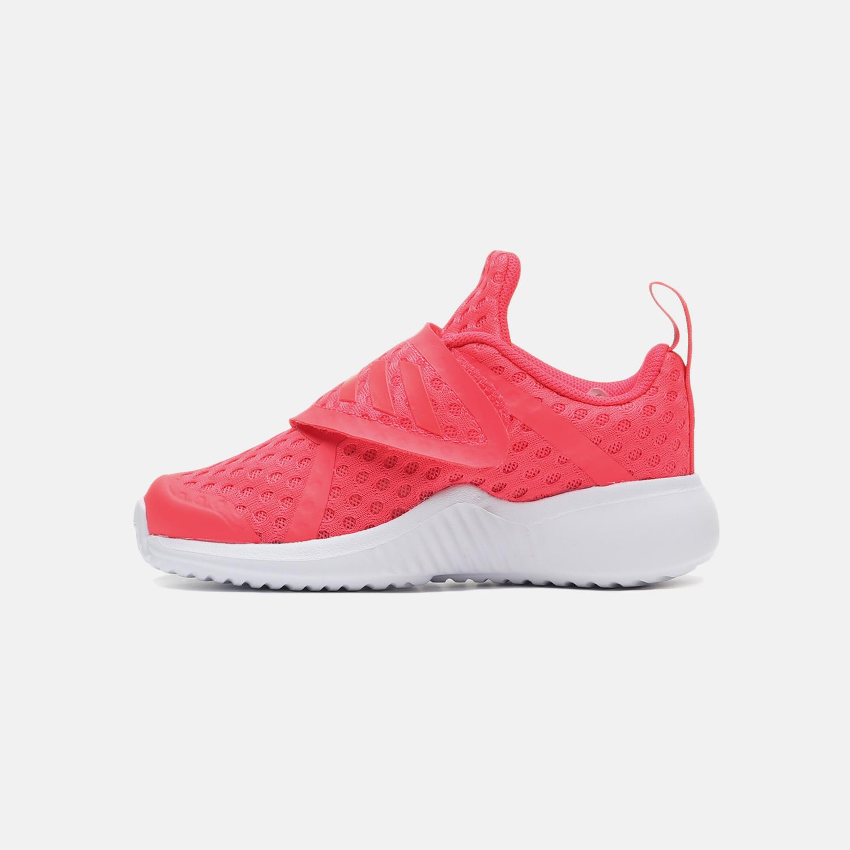 阿迪达斯童女鞋婴童鞋2019新款魔术贴网面跑步运动休闲鞋F34543