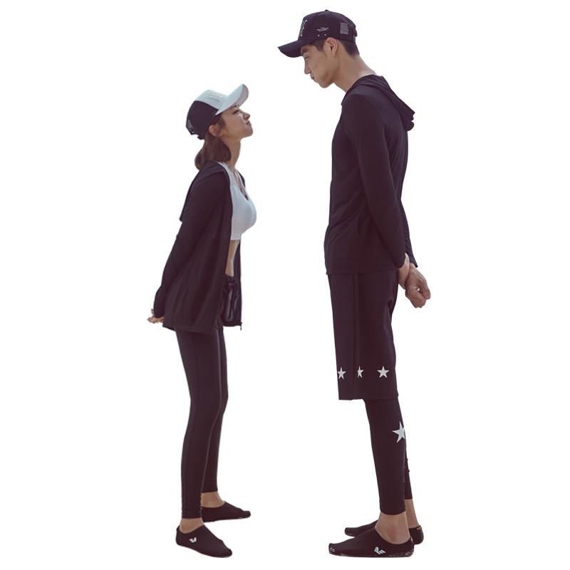 韩国潜水服拉链分体长袖长裤游泳衣防晒速干情侣男女水母衣浮潜服