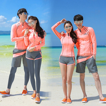 Korean diving suit, swimmers and swimmers, fast drying couple jellyfish trousers, long sleeves, zippers, sunscreen surfing suits.