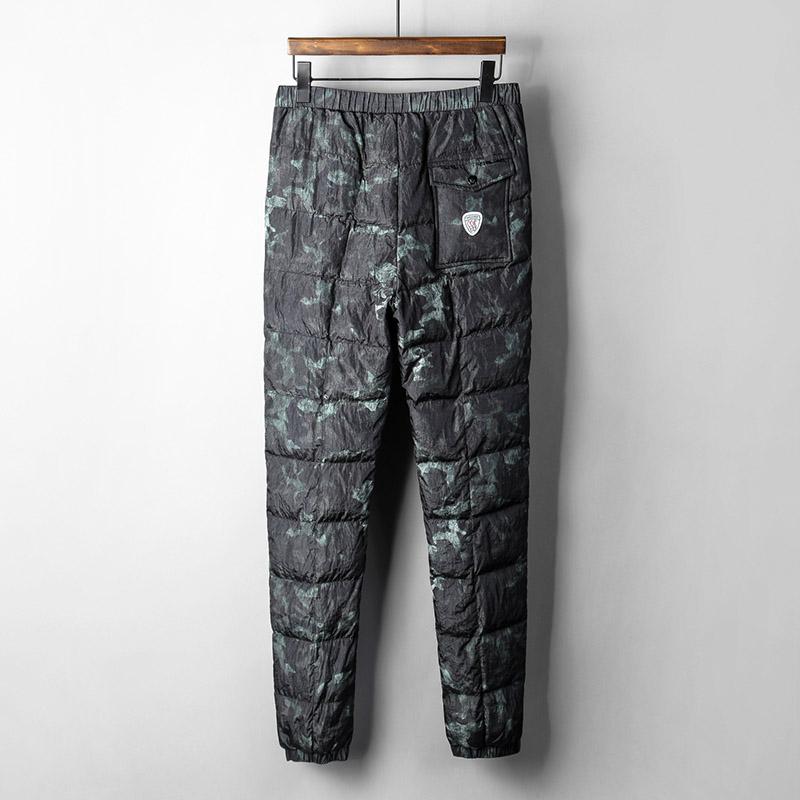 ✅冬季新款男士羽绒裤外穿大码保暖小脚裤白鸭绒丛林迷彩青年保暖
