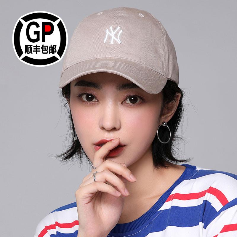 【GP韩国正品】MLB棒球帽扬基队NY小标帽弯檐男女软顶鸭舌帽ins