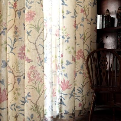 田园棉麻美式窗帘