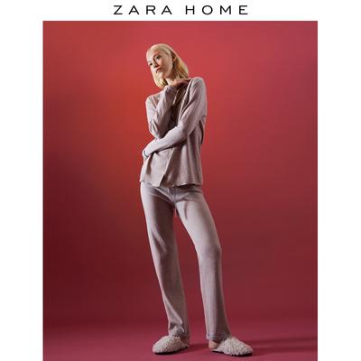 Zara Home 北欧家居服保暖柔软舒适棉质混纺睡衣套装 47267117737