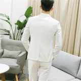 Men's business casual suit suit is dressed Korean version of the size of the groom wedding dress suit three-piece set of men