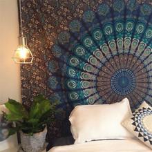 饰壁饰挂毯壁毯沙滩巾摄影背景布 印度曼达拉挂布墙面装