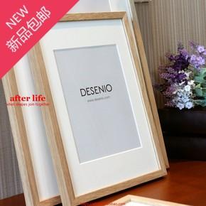 出口纯实木橡木相框简约装饰画框12/16/20/28寸玻璃面板两个包邮