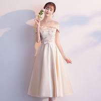 Bridesmaid dress hanging neck long section female simple generous bridesmaid sisters skirt wedding girlfriends group dress long skirt half sleeve