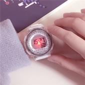 夜光潮流ulzzang手表女中学生韩版简约休闲大气电子表数字式运动