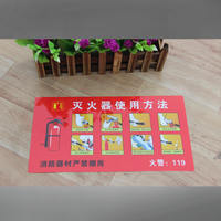 Fire extinguisher use method fire safety sign fire hydrant fire hydrant use instructions sticker signage special offer