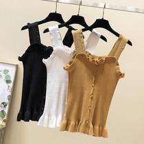 加肥加大码女装夏季新款针织打底衫上衣 200斤胖妹妹时尚吊带背心