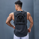 Iron Wolf sports vest men's gym running training fast dry clothes sleeveless loose absorbent sweat breathable card bumpy shoulder