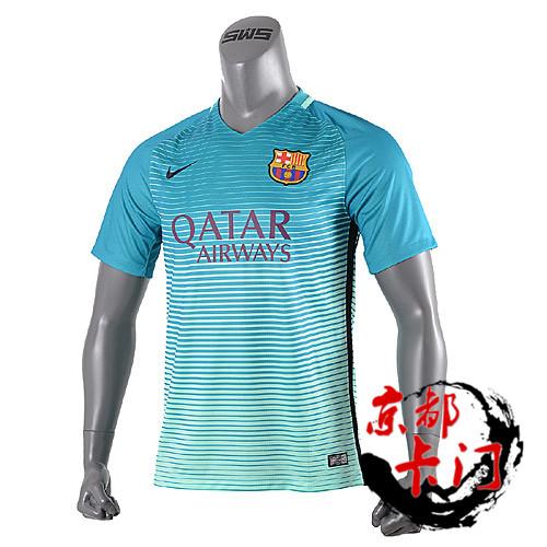 正品16-17巴萨第二客场短袖球衣巴塞罗那10号梅西队服776854-388