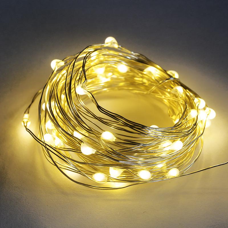 创意房间小彩灯闪灯串灯满天星星灯led铜线布置装饰圣诞灯泡防水