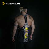 FitterGear fitness sports quick-drying vest training running breathable slim stretch I-shaped back tights