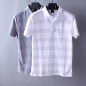 青年翻领T恤韩版休闲修身短袖套头衫夏季纯棉汗衫潮男时尚英伦风