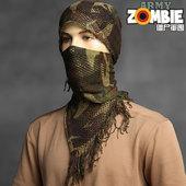 网巾围巾方巾头面巾 意大利意军全新公发军版原品户外丛林迷彩伪装图片
