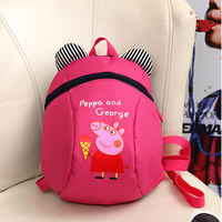 Cute mini backpack female baby anti-lost with traction rope backpack Korean children and children male 1-3-5 years old