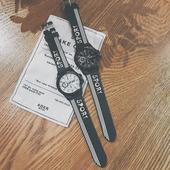 韩国ulzzang原宿bf风韩版 简约休闲男女情侣手表中学生青少年潮流
