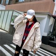 棒球服女外套2018春秋季新款学院风学生宽松夹克短款bf原宿风工装