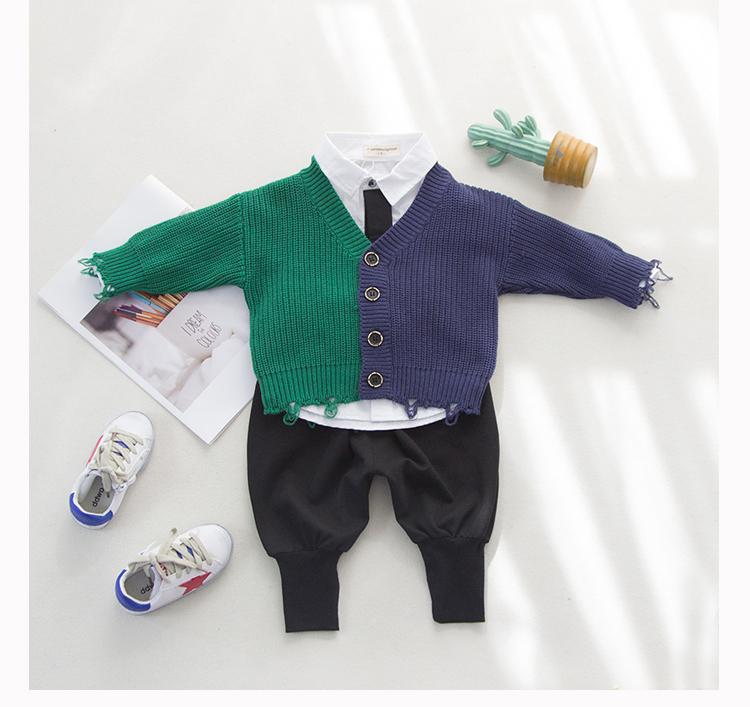 男童毛衣2018春装新品韩版针织开衫小童儿童线衣男宝宝外套上衣潮