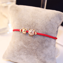Korean New Year red pig, the red rope bracelet of the year of the year, the new red bracelet of the east gate.
