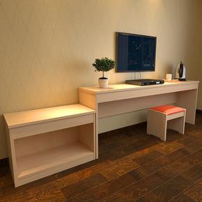 酒店电视柜 宾馆 写字桌客房简易支架电脑桌 现代简约 高低组合桌
