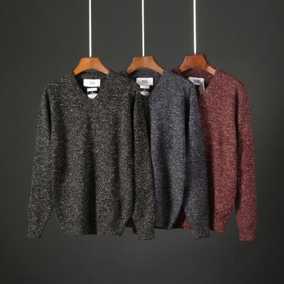 2018秋季新款男士V领毛衣韩版套头针织衫青年修身线衣打底衫T853