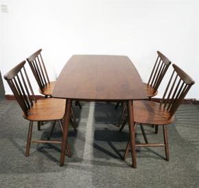 北欧风格餐桌马来西亚进口纯实木餐桌家具清仓大处理特价现代简约