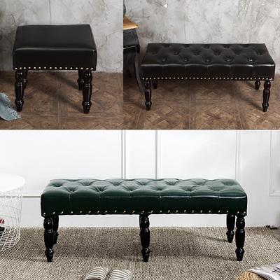 门口换鞋凳鞋柜实木试衣间凳子服装店沙发长凳子穿鞋凳欧式床尾凳