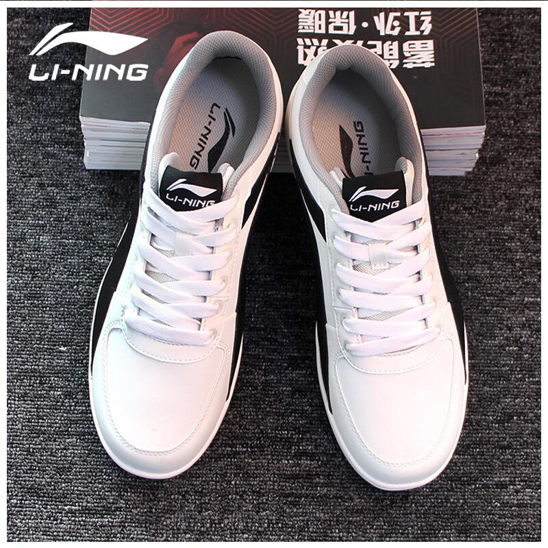 李宁男鞋休闲鞋春季新款百搭小白鞋阿甘鞋运动鞋低帮板鞋ALCJ131