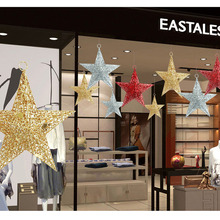Seventh Eve Merry Christmas Tree Hanging Star Decoration Shop Window New Year's Day Decoration Projects