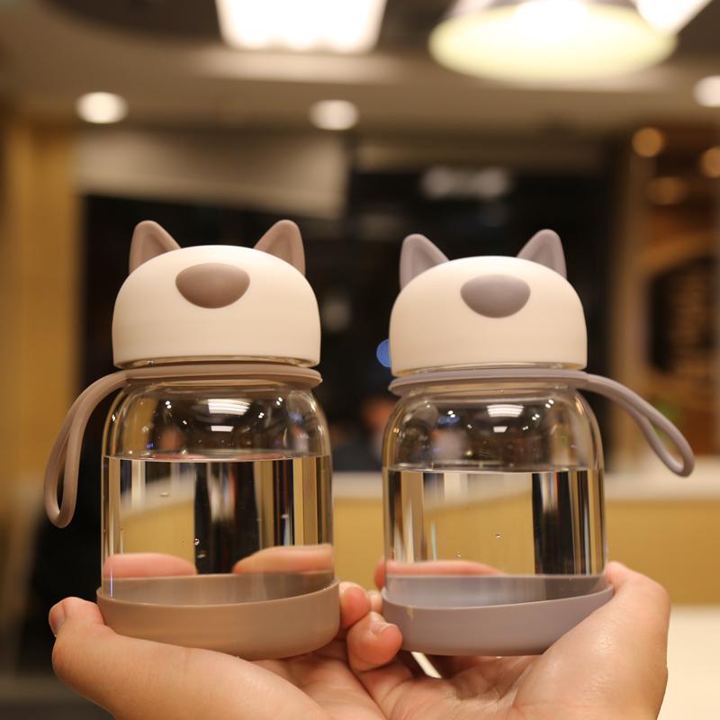 熊猫玻璃杯