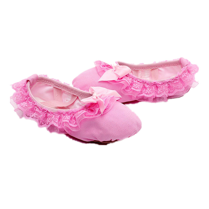 幼儿童软底舞蹈鞋蕾丝花边公主鞋跳舞鞋表演考级练功鞋专用猫爪鞋