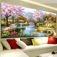 Genuine KS Cross Embroidery Flagship Store Garden House Fantasy Home Latest Living Room Landscape Painting European-style Full Embroidery
