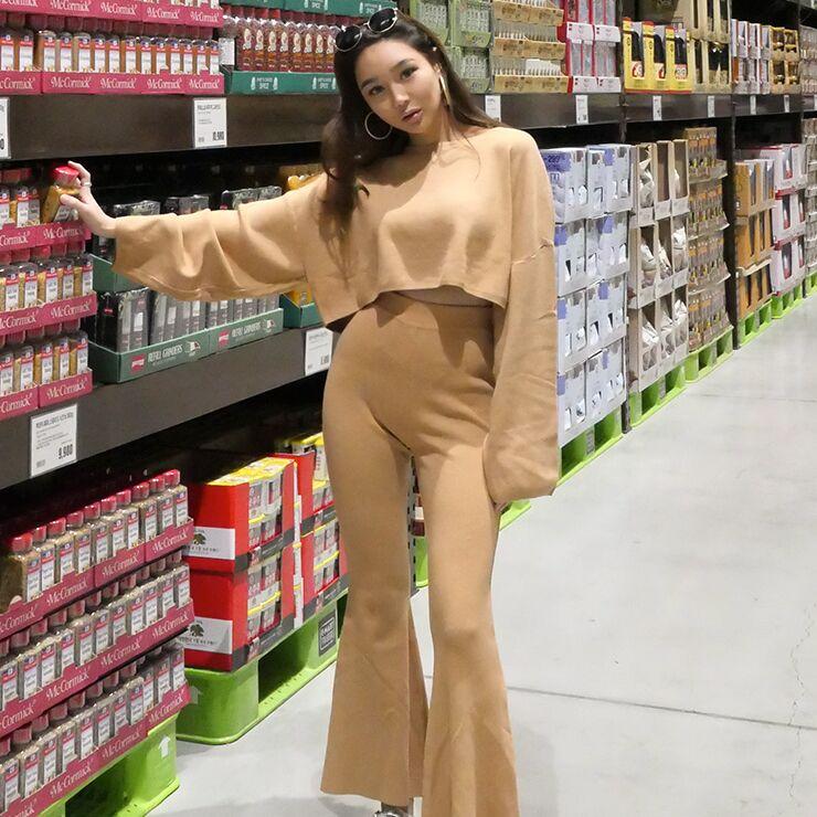 七03韩国正品夏装新款时尚休闲女休闲套装124081