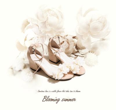纤梦纤盈 学生日系一字扣带凉鞋高跟少女夏中高跟粗跟露趾罗马鞋