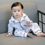 Children's pajamas fall boy cotton air-conditioning suit long-sleeved suit baby jumpsuit baby boy home clothes