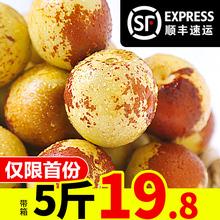 包邮 冬枣新鲜水果带箱5斤 甜脆枣子青枣鲜枣东枣脆枣现货陕西大荔