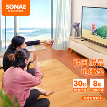 Sonnard Korea carbon Crystal ground warm pad geothermal pad moving ground warm electric heating carpet household living room warm pad
