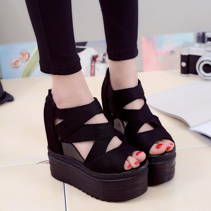 布面韩版女凉鞋