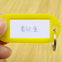 Full package Family plastic listing key label card keychain hotel key card hotel signage travel
