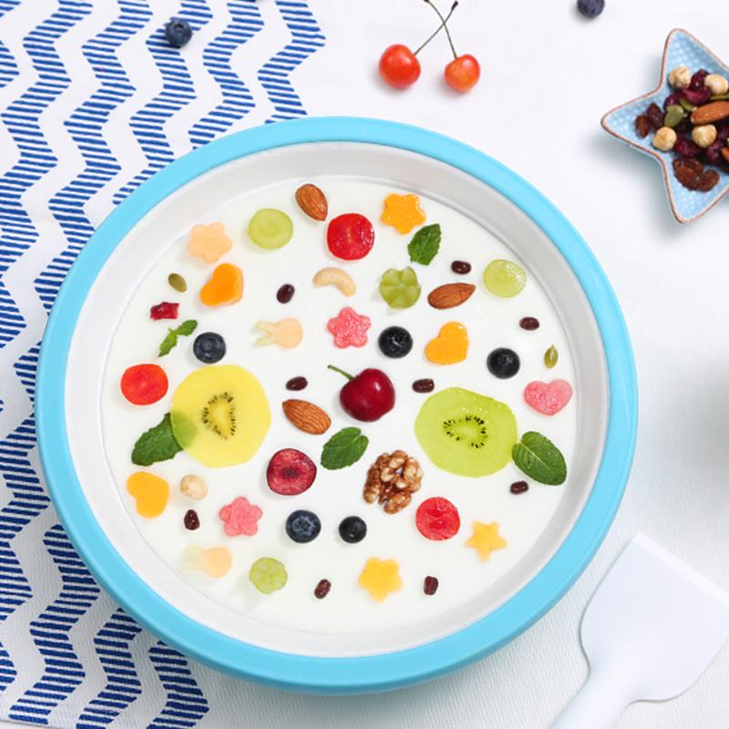 果语冰乐盘儿童炒冰机炒酸奶机家用小型迷你无电冰淇淋机顺丰包邮