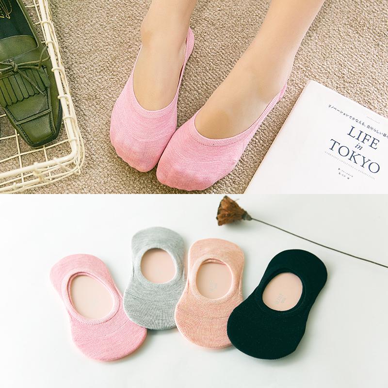 袜子女士船袜男短棉袜四季袜低帮夏季透气薄款隐形袜浅口硅胶防滑