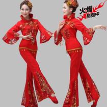2018新款秧歌服演出服装女中老年民族舞蹈表演服成人扇子腰鼓舞服